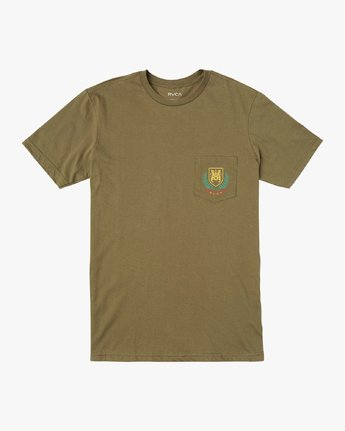 0 Royale Pocket T-Shirt Green M412VRRO RVCA