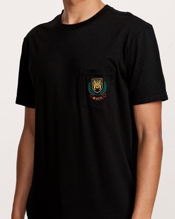 3 Royale Pocket T-Shirt Black M412VRRO RVCA