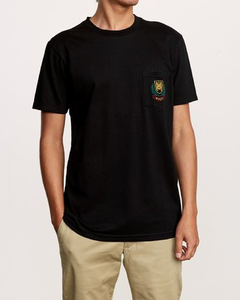 1 Royale Pocket TEE Black M412VRRO RVCA