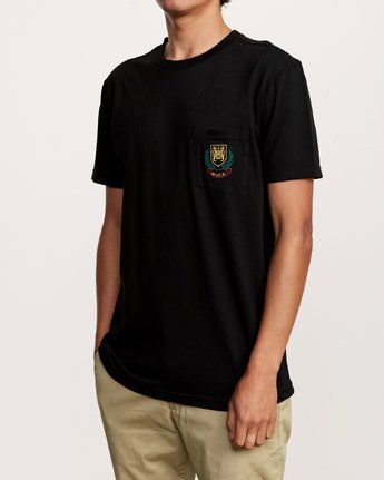 2 Royale Pocket TEE Black M412VRRO RVCA