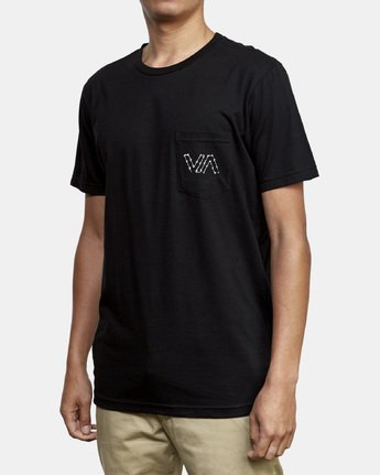3 Barbed TEE Black M412WRBA RVCA