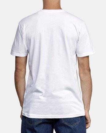 3 Cross Fade T-Shirt White M412WRCF RVCA