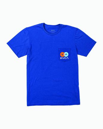 1 TV Corpo T-Shirt Blue M412WRTV RVCA