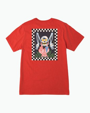 0 Luke Pelletier Crypt Party T-Shirt Red M413PRCR RVCA
