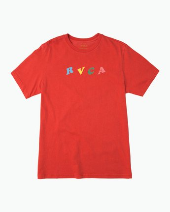1 Luke Pelletier Crypt Party T-Shirt Red M413PRCR RVCA