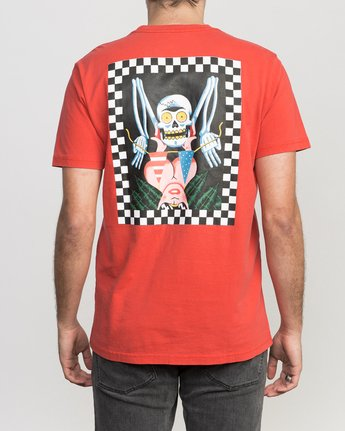 4 Luke Pelletier Crypt Party T-Shirt Red M413PRCR RVCA