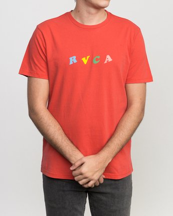 2 Luke Pelletier Crypt Party T-Shirt Red M413PRCR RVCA
