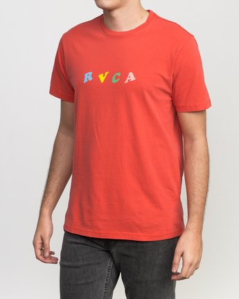 3 Luke Pelletier Crypt Party T-Shirt Red M413PRCR RVCA