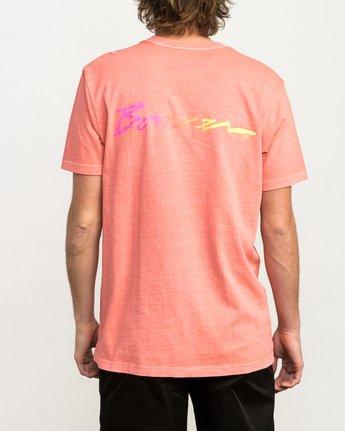 4 Campbell Bros T-Shirt Pink M413QRCA RVCA