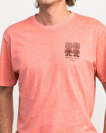5 Campbell Bros T-Shirt Pink M413QRCA RVCA