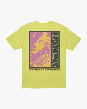 1 MONOLITH TEE Yellow M4141RMO RVCA