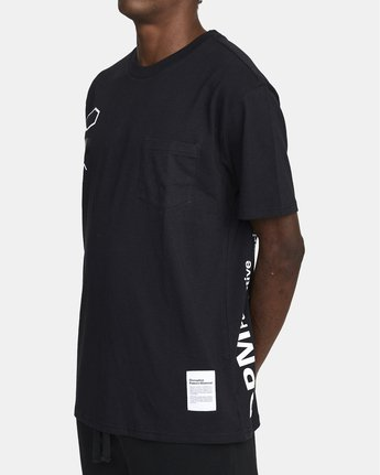4 DPM SHORT SLEEVE POCKET TEE Black M4143RDP RVCA