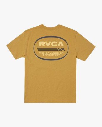 1 OVAL SHORT SLEEVE TEE Beige M4143ROV RVCA