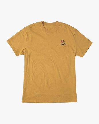 1 Bert Krak Tat Cat T-Shirt Green M414QRTA RVCA
