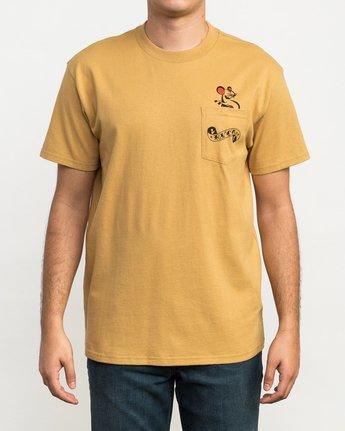 2 Bert Krak Tat Cat T-Shirt Green M414QRTA RVCA