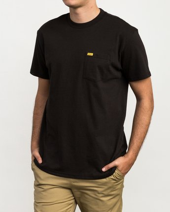 1 Day Shift Label Pocket T-Shirt  M414SRDE RVCA