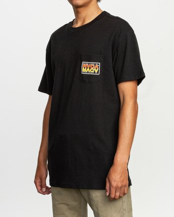 2 Toe Shift T-Shirt Black M414TRTO RVCA