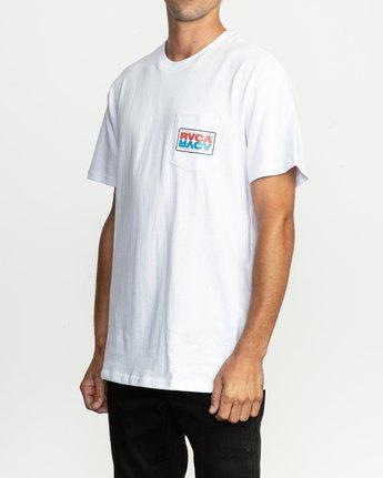 2 Toe Shift T-Shirt White M414TRTO RVCA