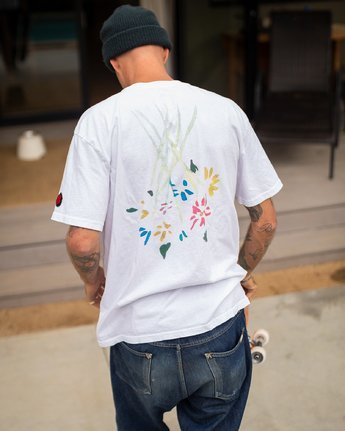 2 AR Lottie Flowers T-Shirt White M414URLF RVCA