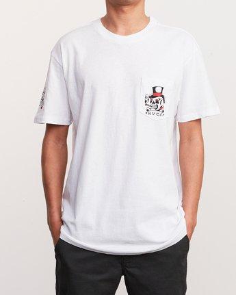 2 Bert Krak Pick Your Battles T-Shirt White M414URPI RVCA