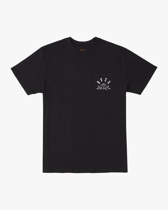 1 Rose State Pocket T-Shirt Black M414URRO RVCA