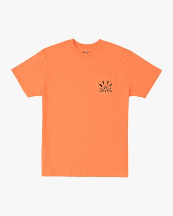 1 Rose State Pocket T-Shirt Orange M414URRO RVCA
