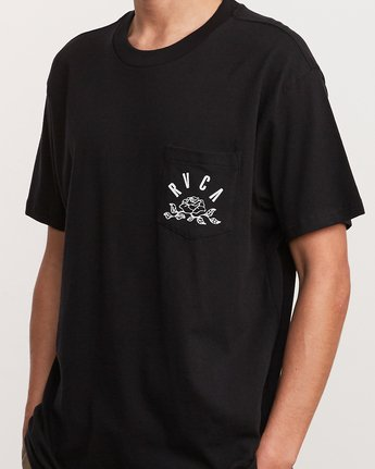 5 Rose State Pocket T-Shirt Black M414URRO RVCA