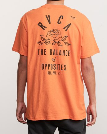 4 Rose State Pocket T-Shirt Orange M414URRO RVCA