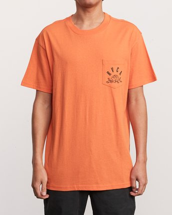 2 Rose State Pocket T-Shirt Orange M414URRO RVCA