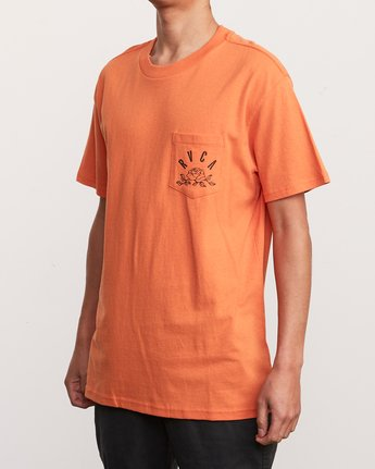 3 Rose State Pocket T-Shirt Orange M414URRO RVCA