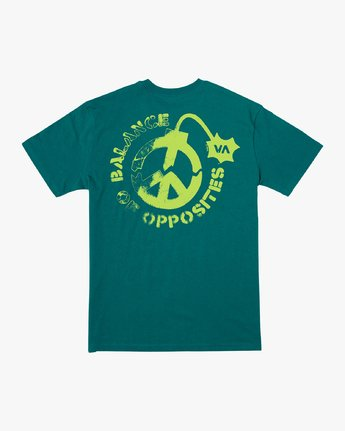 0 Peace Out T-Shirt Green M414VRPE RVCA
