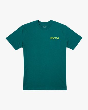 1 Peace Out T-Shirt Green M414VRPE RVCA