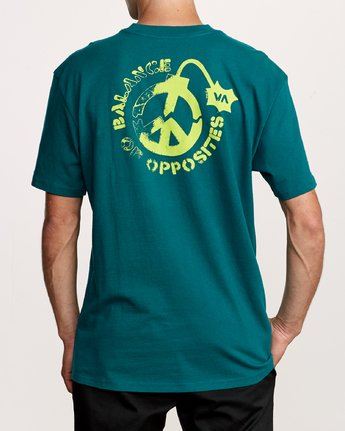 4 Peace Out T-Shirt Green M414VRPE RVCA