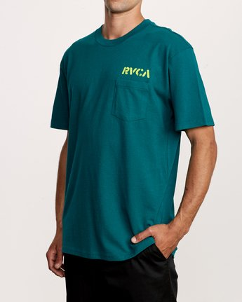 3 Peace Out T-Shirt Green M414VRPE RVCA