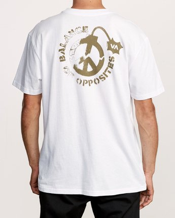 4 Peace Out T-Shirt White M414VRPE RVCA