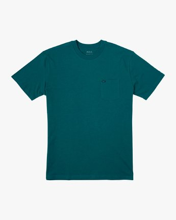 0 Dayshift Solid Label T-Shirt Green M414VRSO RVCA