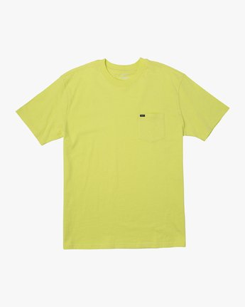 0 Dayshift Solid Label T-Shirt Yellow M414VRSO RVCA