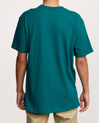 3 Dayshift Solid Label T-Shirt Green M414VRSO RVCA