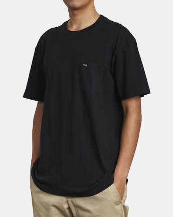 3 SOLO LABEL TEE Black M414VRSO RVCA