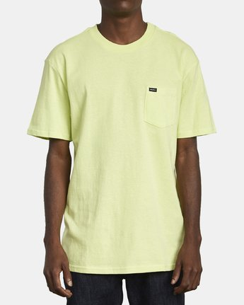 1 Dayshift Solid Label T-Shirt Yellow M414VRSO RVCA