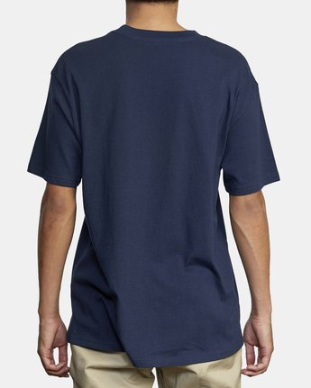 5 Dayshift Solid Label T-Shirt Blue M414VRSO RVCA