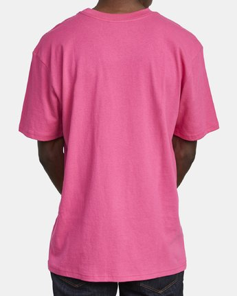 5 SOLO LABEL SHORT SLEEVE TEE TEE Pink M414VRSO RVCA