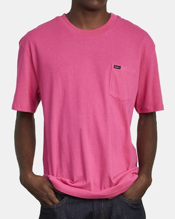 2 SOLO LABEL SHORT SLEEVE TEE TEE Pink M414VRSO RVCA