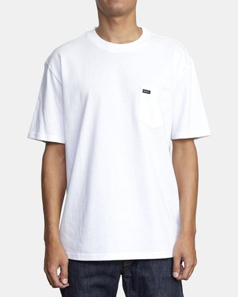 1 Dayshift Solid Label T-Shirt White M414VRSO RVCA