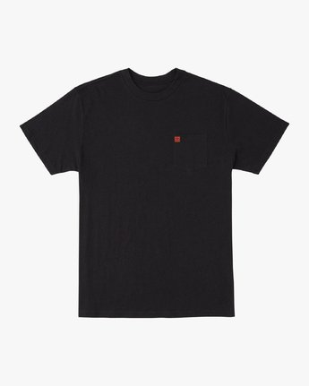 1 Smith Street Wicks Pocket T-Shirt Black M414VRWI RVCA