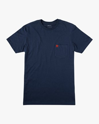 1 Smith Street Wicks Pocket T-Shirt Blue M414VRWI RVCA