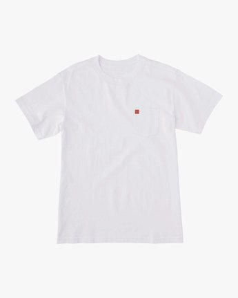 1 Smith Street Wicks Pocket T-Shirt White M414VRWI RVCA
