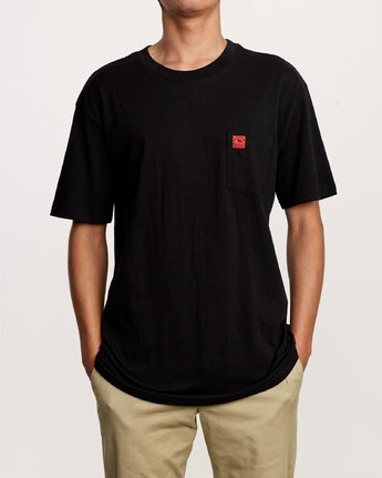 2 Smith Street Wicks Pocket T-Shirt Black M414VRWI RVCA