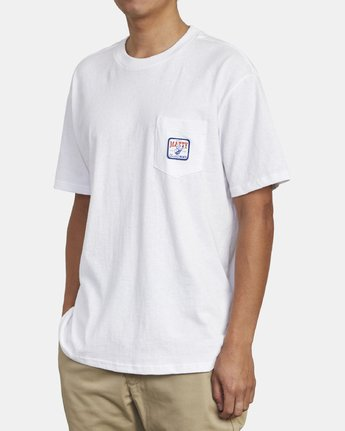 3 MATTY'S POCKET TEE White M414WRGM RVCA