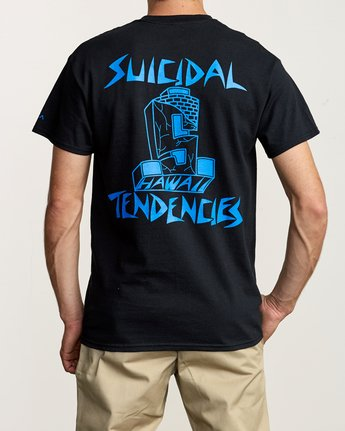 5 RVCA x Suicidal Tendencies T-Shirt Black M419TRSU RVCA